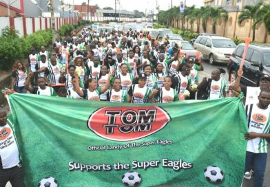 TomTom supports Super Eagles with Lagos walk