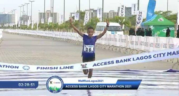 Naibei, Dinke win 2021 Access Bank Lagos City Marathon